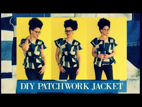 Refashion Denim into a DIY Patchwork Jacket | Child of Alcoholism | TEM FÉ