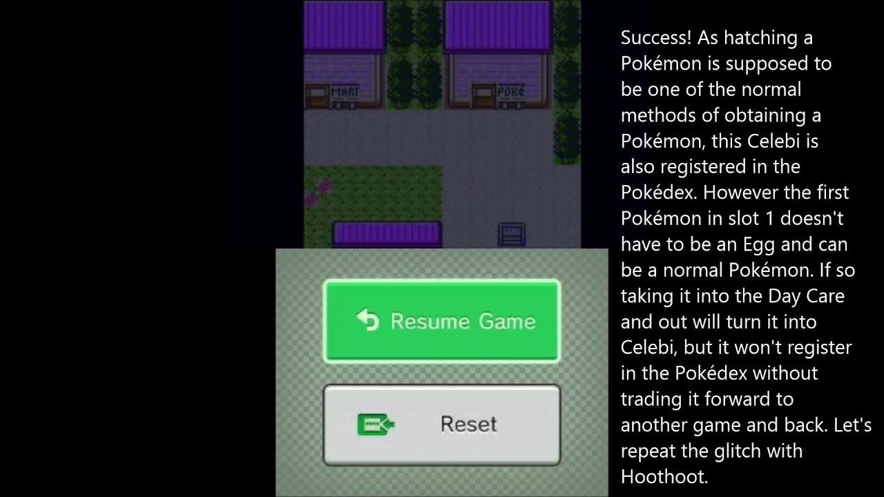 How To Get Celebi In English Virtual Console Pokémon Gold Silver Simplified Method Youtube
