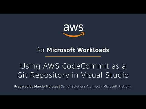Integrate AWS CodeCommit with Visual Studio