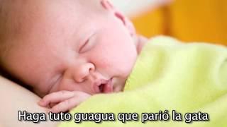 """""""Haga tuto guagua"""" - Cancion de Cuna para bebes con letra - relajar - calmar - arrullar - Mozart #"""