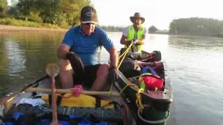 Canoe the Danube Wild camp 1 to Straubing to Wild camp 2 to Passau