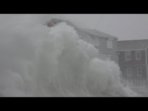Extreme Storm Surge and Blizzard - Scituate, MA - 1/4/2018