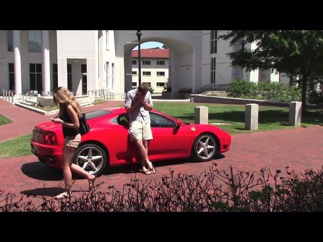 Эксперимент! Привлекает ли Ferrari 360 женщин?