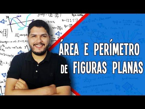 ÁREA E PERÍMETRO DE FIGURAS PLANAS - QUADRADO RETÂNGULO TRIÂNGULO | Matemática Aula 15