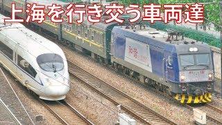 上海を行き交う列車達@中潭路站西の跨線橋(19GW旅-4)