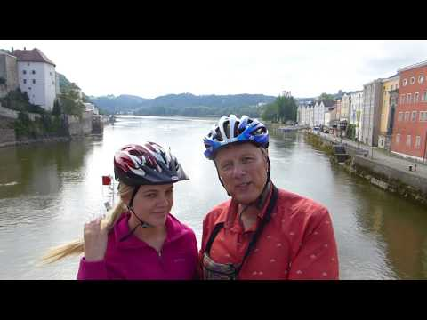 Cycling along the Danube River, Austria