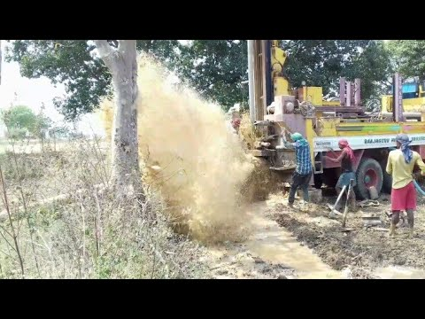 BOREWELL DRILLING FROM MY VILLAGE || 80 FEET ME FULL WATER || STEP BY STEP DRILLING