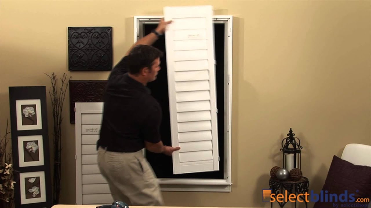 How To Outside Mount Shutters   YouTube