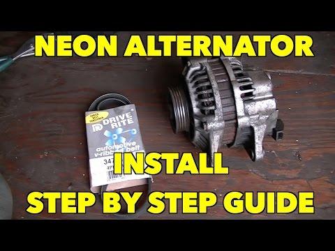 Alternator Install...Plymouth/Dodge, Neon, Caravan....Step by step...Pretty Easy.