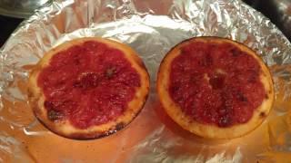 Десерт. Запеченный грейпфрут с медом, корицей и молотым имбирем.