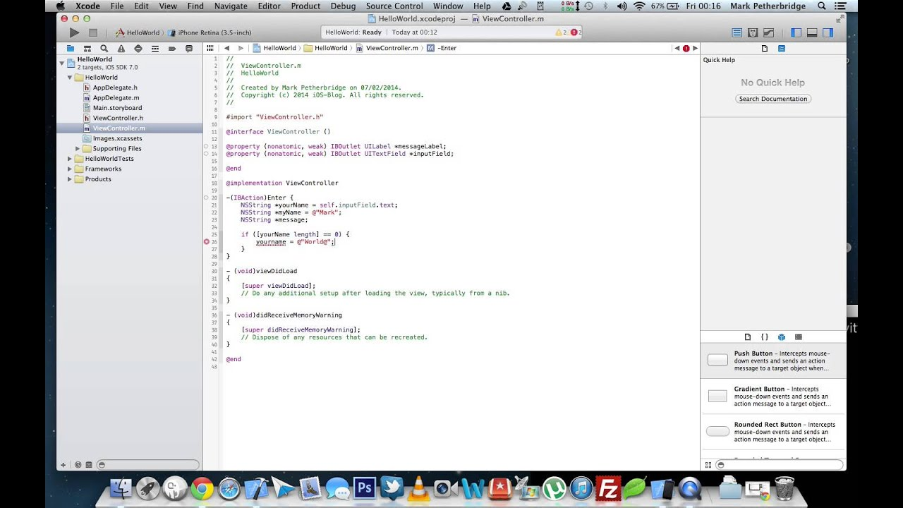 How To Create Your First Ios 7 Hello World Application  Xcode 5