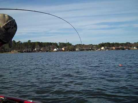 Lake conroe bass fishing deep water winter pattern youtube for Lake conroe fishing