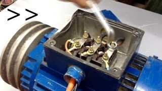 Repeat youtube video Kako prespojiti trofazni motor na monofaznu struju // How to connect three-phase