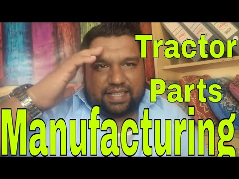 Tractor parts manufacturing workshop