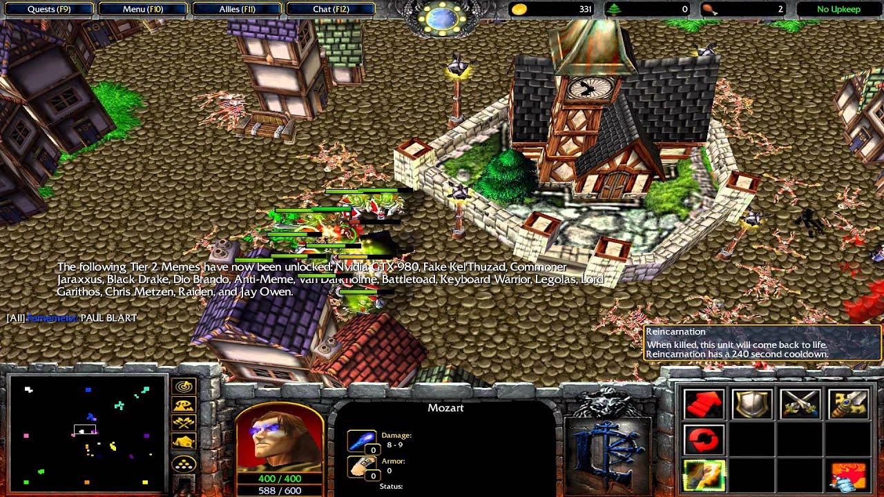 Warcraft 3 Tft Meme Wars 2 Youtube