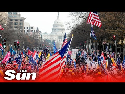 Live: Pro-Trump demonstrators gather in Washington DC ahead of US Congress election results