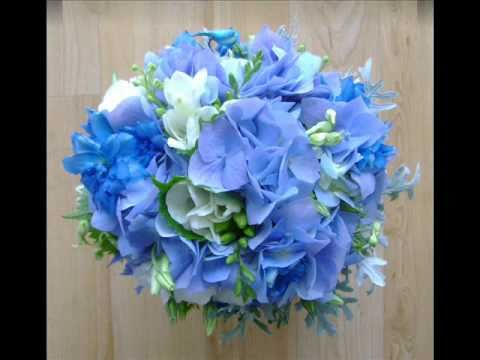 Wedding Bridal Bouquets In Blue Lilac Purple And Mauve