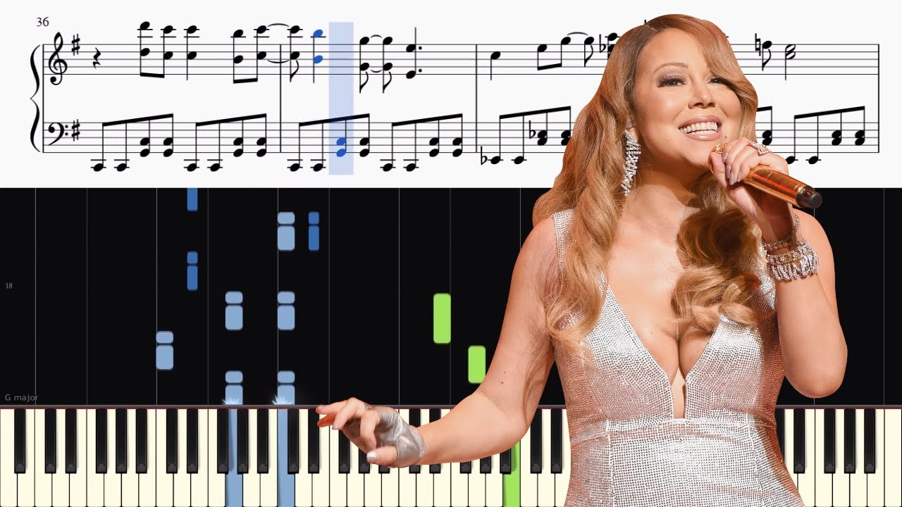 All I Want For Christmas Is You Piano Sheet Music With Letters.Mariah Carey All I Want For Christmas Is You Advanced Piano Tutorial Sheets