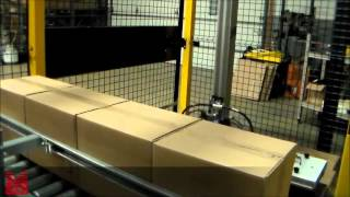 Automated Palletizing Machine Featuring X Z Gantry System From Macron   KwikPall Palletizer q2zgyitS