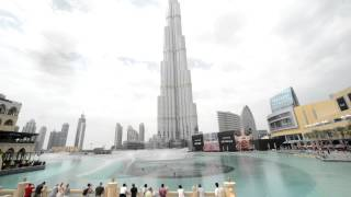 The Burj Khalifa dancing fountains - The Dubai Fountain