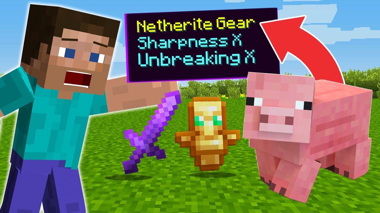 Minecraft, But MOBS Drop SUPER EPIC Items