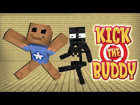 Monster School : KICK THE BUDDY GAME CHALLENGE - Minecraft Animation