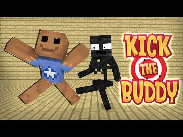 Monster School : KICK THE BUDDY GAME CHALLENGE - Minecraft Animation