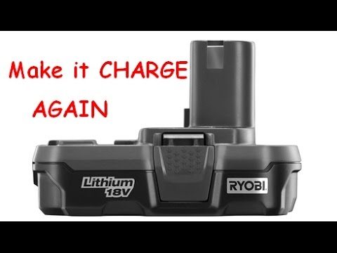 How to Make Lithium Drill Batteries Charge Again - Ryobi - S