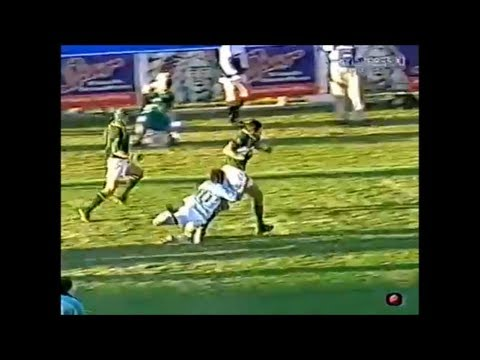 Gonzalo Quesada try saving tackle on Pieter Rossouw