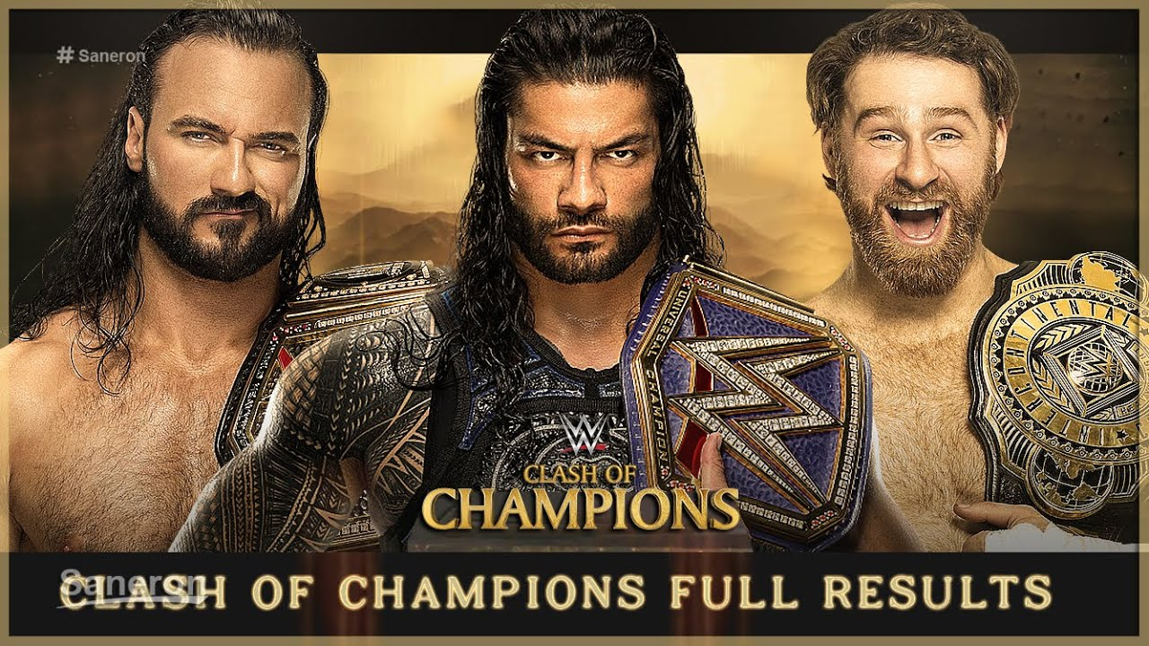 WWE Clash Of Champions 2020 Results: Roman Reigns And The ...