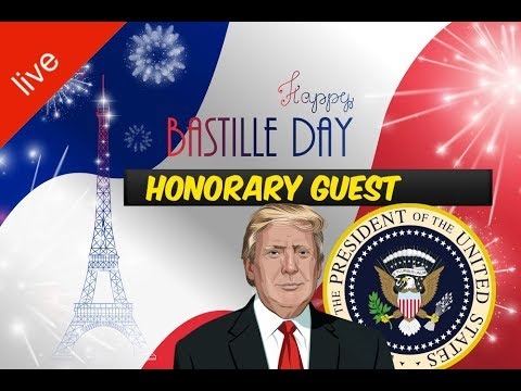 LIVE: President Donald Trump Attends Bastille Day Celebration and Military Parade in Paris France