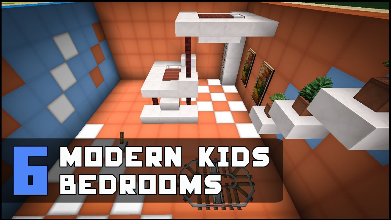 Minecraft modern kids bedroom designs ideas youtube for Minecraft house interior living room