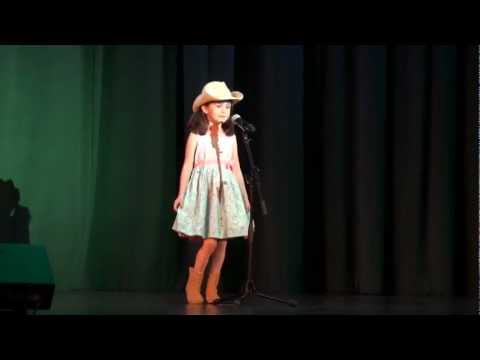 Our 6 year old daughter singing