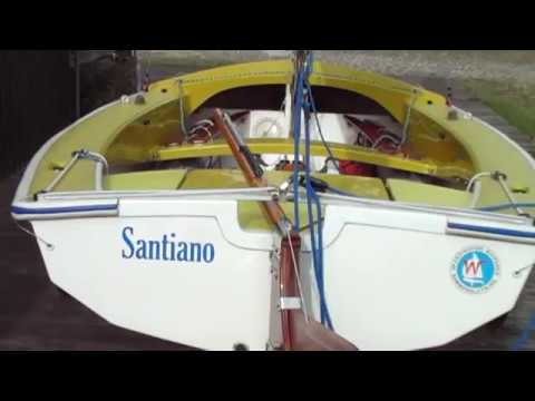 88e3ca80209 Wayfarer sailing dinghy W 4989 - YouTube