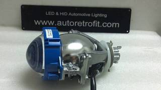 Universal Bi--LED 3.0'' Projector Lens, 35Watt Low Beam & 40Watt High Beam Video