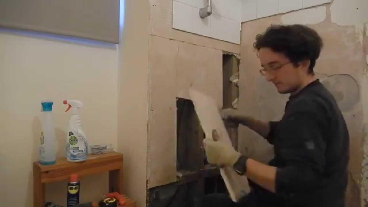 Bathroom Wall Repair Bathroom Wall Repair Part 2 Youtube