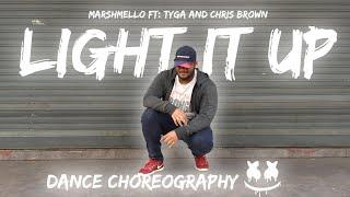 Marshmello - Light It Up ft. Tyga & Chris Brown || DANCE CHOREOGRAPHY BY XERXES EDGE
