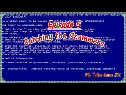 """""""PC Take Care"""" Tech Support Scam Again 