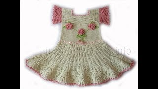 Crochet Patterns| free |crochet baby dress| 2676