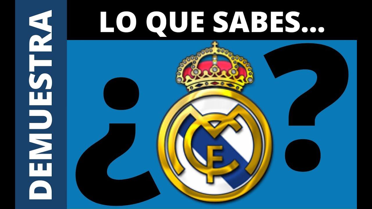 Demuestra todo lo que Sabes sobre el REAL MADRID