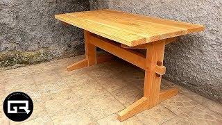 MESA DE MADERA RUSTICA / WOOD TABLE RUSTIC (video resumen)