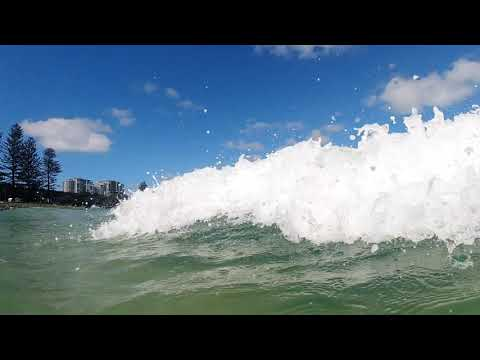 Testing Out The Water - Caloundra Beach