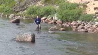 Рыбалка на Кольском полуострове Рыбалка на сёмгу.Река Индель (Индельфиш)