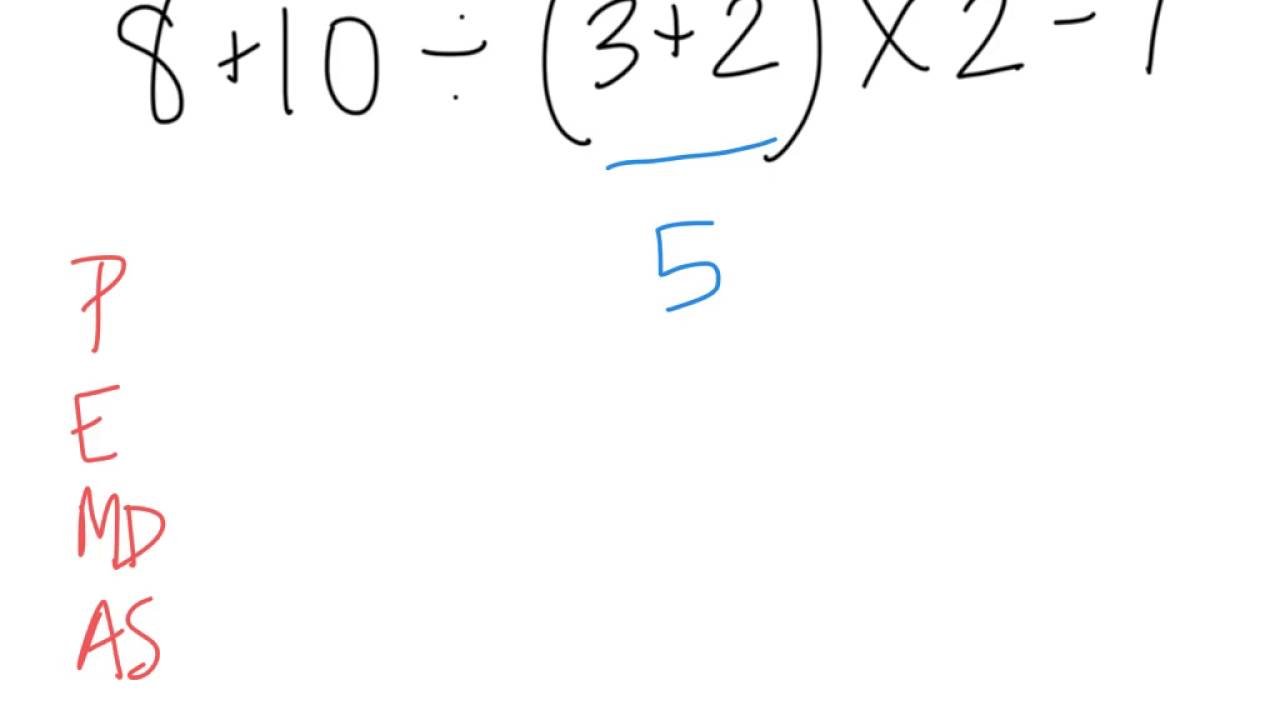 worksheet Order Of Operations Without Exponents order of operations no exponents youtube exponents