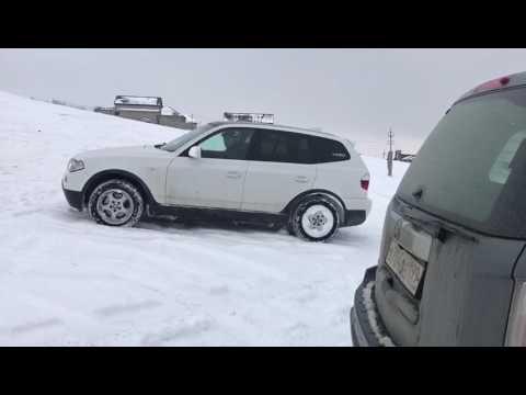 snow off road bmw x3 e83_vs_X6_5.0_vs_Toyota200_vs_Toyota Prado_vs_mazda626