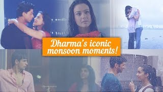 Dharma's Iconic Monsoon Moments | SRK | Kajol | Ranbir | Sidharth | Parineeti