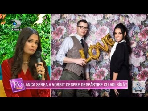 Teo Show (22.11.2018) - Anca Sina Serea a vorbit despre despartire cu Adi Sina? Partea 1