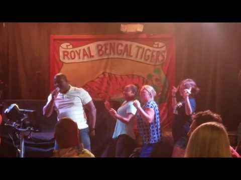 Get Down Tonight karaoke by Reggie & The OTA Dancers at Harry T's in Destin
