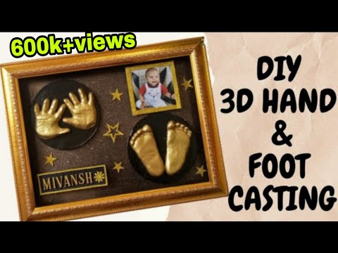 Download DIY 3D Baby Hand and Foot Casting at Home   Life Casting Frame   Making Baby Hand & Foot impression