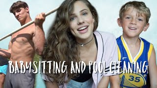 VLOG 106: Babysitting and Cleaning the Pool